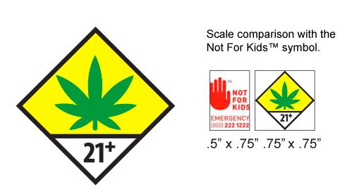 Washington state universal marijuana symbol